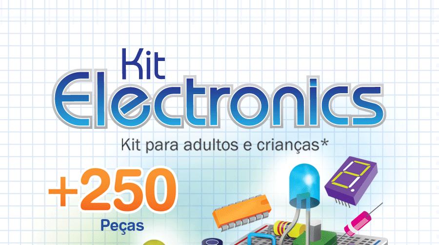 Kit de eletronica para montar e aprender
